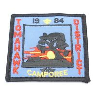 Vintage 1984 Tomahawk District Camporee Boy Scout Patch BSA