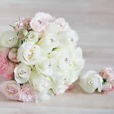 500Pcs Clear Diamante Pin Wedding Bouquet Corsage Floral Florist Pins Decoration