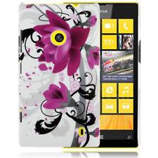 HardCase Backcover Schutzhülle für Nokia Lumia 520 Blüten pink schwarz Cover
