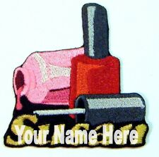Nail Polish Custom Iron-on Patch With Name Personalized Free