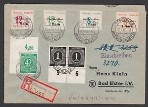 Germany. Local Zone.  Spremberg. Registered Cover to Bad Elster. Sent 18/4/1946