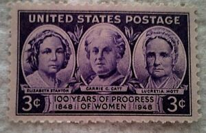 1948 U. S. Scott 959 Progress of Women one new 3 cent stamp at face value
