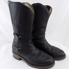 Chippewa Rally Boots 27862, Black Leather USA Motorcycle boots EUC Mens size 10E