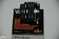 Vivitar 2-fach Extender Konverter für Konica SLR Tele+Zoom Matched Multiplier 2x