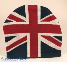 New UK Flag Knit Beanie Winter Ski Snow Union Jack British GB Cap/Hat Disney