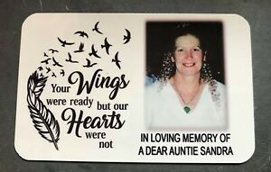 Memorial Gift Personalised Photo Metal Card Memory Gift Keepsake
