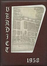 REPRINT: 1958 Albany Law School Union University yearbook - Albany New York