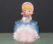 BEAUTIFUL BLOOMER GIRL COOKIE JAR BY LEFTON**EXCELLENT CONDITION**