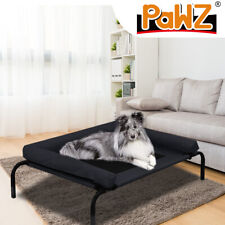 PAWZ Pet Bed Heavy Duty Frame Hammock Bolster Trampoline Dog Puppy Mesh XL Black