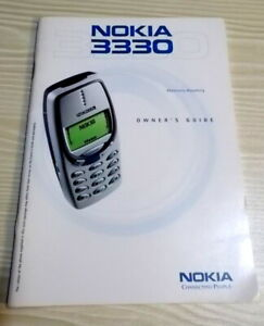 NOKIA 3330 INSTRUCTION OWNERS GUIDE - 2001 - vgc