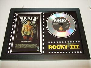 ROCKY 3   SIGNED  framed silver disc film display