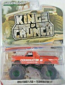 1/64 Greenlight King of Crunch Series 7 1993 Ford F250 Terminator III Green