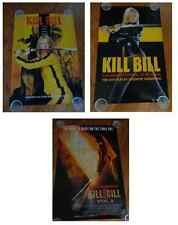 KILL BILL ORIGINAL MOVIE POSTER LOT (3) NEW Thurman TARANTINO MARTIAL ARTS