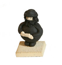 "Mini Fimo Rabbi With Beard Holding Torah / Sidur Handmade in Israel, 2"" Tall *"