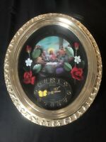 "Vintage Large 1970s Eleco 3D Jesus The Last Supper 15""x18""  Clock - WORKING"