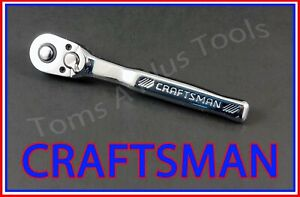 """CRAFTSMAN TOOLS 1/4"""" FULL POLISH 72 Tooth Quick Release Ratchet Socket Wrench"""