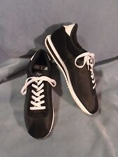 Men's Lugz Black & White Leather/Textile Fashion Sneakers Size 11 1/2 M
