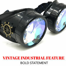 Kaleidoscope Rave Glasses Steampunk costume goggles gothic punk Diffraction