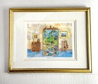 Susan Johnson Signed Numbered Art Print French Doors