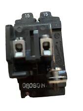 New ListingPushmatic 15/15 Amp Duplex Circuit Breakers P1515 Twin