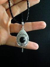 Necklace Silver Black Hippie Bohemian Surf Ethnic Boho  Tribal Gypsy N1044