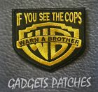 WARN A BROTHER  Harley Biker Motorcycle Vest Embroidered Patches  Iron Sew On