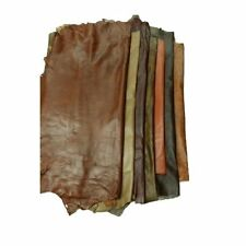 LEATHER HIDES - WHOLE SHEEP SKIN 7 to 10 SF - Various Colors (ANTIQUE BROWN)