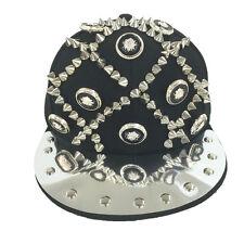 New  Spike Rivets Studded Snapback Baseball Hat  Hat Bright Jewelry Hip-hop Cap