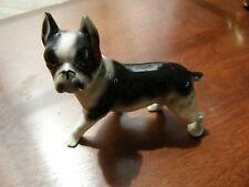 3388) Boston Terrier Ceramic Figurine Standing Black & White Hand Decorated