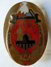 Insigne Promotion ESM SAINT CYR 1944 ROME ET STRASBOURG (Cherchell) ORIGINAL