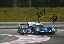 Ho-Pin Tung, Nelson Panciatici mano firmado Nissan 12x8 Foto 2016 Le Mans CME.
