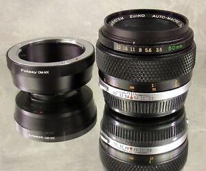 Olympus 50mm f3.5 Auto Macro Zuiko OM-System Lens & Fotasy OM-NX Extension Tube
