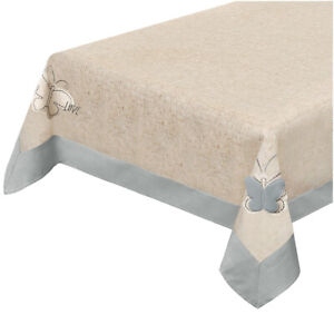 Tablecloth Cooking Coordinate Runner Center Table Cloth Shabby Chic Butterfly 3D