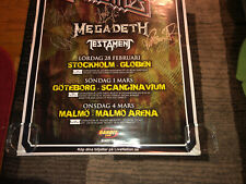 "Judas Priest ""Priest Feast�Signed By Jp(concert Poster,2008)Testament_Meg adeth"