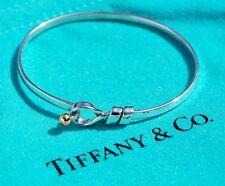TIFFANY & Co argent sterling 18 CARATS 18K or amour anneau crochet bracelet