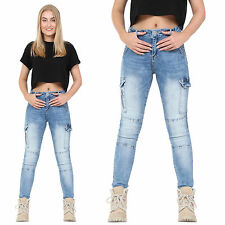 Cargo Unbranded Faded Jeans for Women