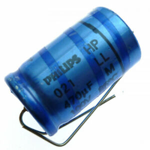 470uF 100V  Electrolytic  Axial Capacitor PHILIPS