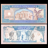Somaliland 50 Shillings, 1996, P-4b, UNC