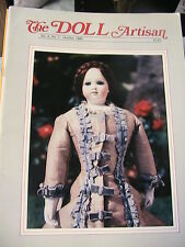 THE DOLL ARTISAN *RARE Oct-Nov 1985 Vol 9 #1 handsewing~powder puff doll~MIX MED