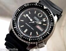 Seiko Black Ceramic 'Zero' Tuna Automatic Day Date Scuba Diver Watch Custom 6309