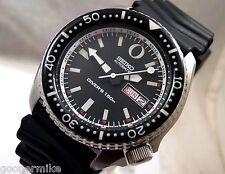 Seiko Black Ceramic 'Zero' Tuna Automatic Day Date Scuba Diver Watch Custom 6309