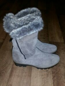 Russell & Bromley/aquatalia suade Boots in grey size 4 euro(37),brand new.