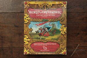 World of Greyhawk Box Set Setting, 8th Print AD&D 1st Edition TSR 1015 1983