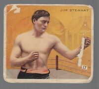 [50381] 1910 MECCA CIGARETTES BOXING CARD JIM STEWART