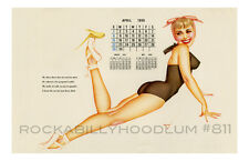 Pin Up Girl Poster 11x17 George Petty Calendar april 1956 ballet canary