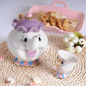 Théière Cartoon beauté et la Bête Théière Tasse Mme Potts puce tea pot tasse