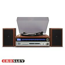 Crosley 1975T 2-Speed Record Player Turntable Walnut with Speakers CR6038A-WA
