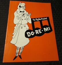 1960's DO-RE-MI Musical Program David Merrick FVF 20 pgs Nancy Walker