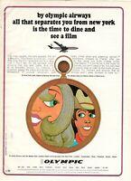 1967 Original Advertising' Vintage Olympic Airways Airlines 45v