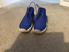 Para hombre/niños Nike Air Jordan Future Botas Efecto Tejido Azul Talla 6 en muy buena condición